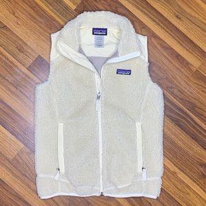 Patagonia fuzzy cream vest